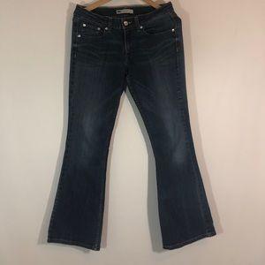 Levi's 518 super low jeans.